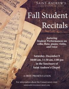 Fall 2017 recital poster