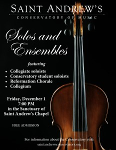 Fall 2018 solos and ensembles poster